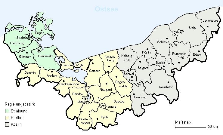 Landkarten Pommern Stolper Heimatkreise E V